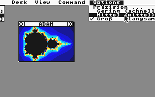 GEMFrac atari screenshot